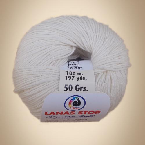 Νήμα Algodon Soft, 50γρ, Βελονάκι No2,5-3,5 , Λευκό