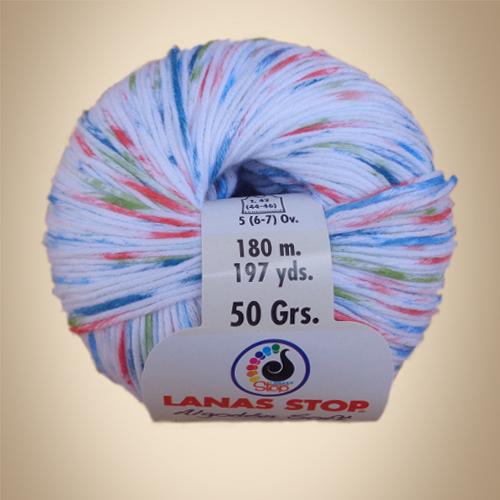 Νήμα Algodon Soft Multicolor, 50γρ, Βελονάκι No2,5-3,5