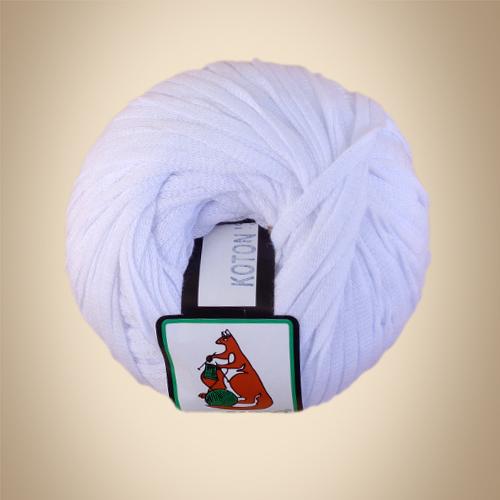 Κορδέλα Cotton, 100γρ, Βελονάκι No6-7, Λευκό