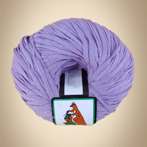 Κορδέλα Cotton, 100γρ, Βελονάκι No6-7, Λιλά