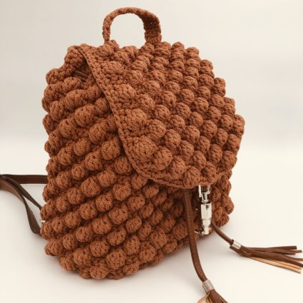 Handmade, Backpack, Bubble, Πλάτης, Καφέ Ταμπά